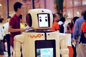 china unicom,chinese robot,waiter robot china