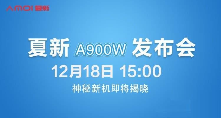 Завтра представят Amoi A900W