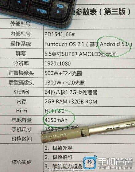 vivo x5pro specifications