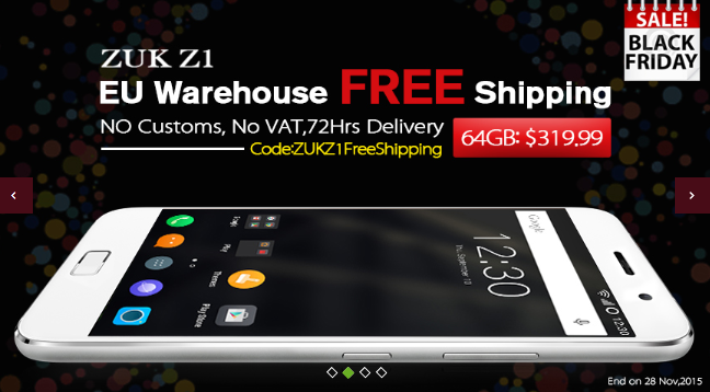 zuk z1 black friday deal
