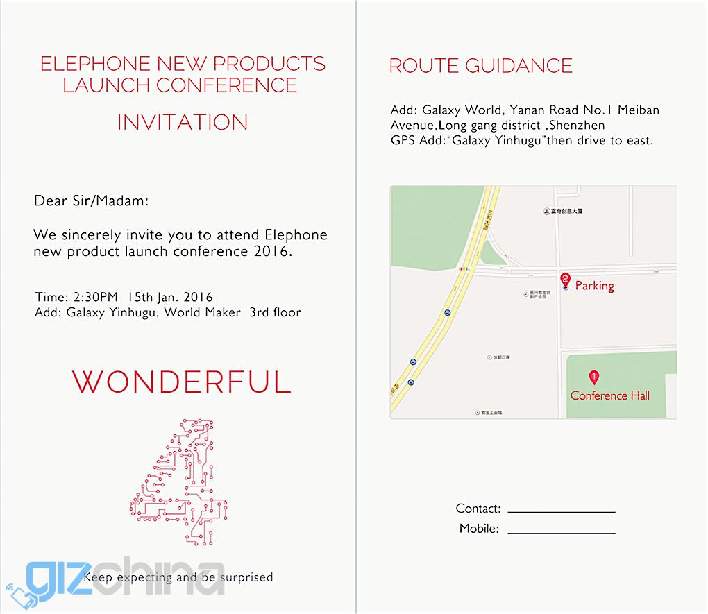 elephone p9000 invite