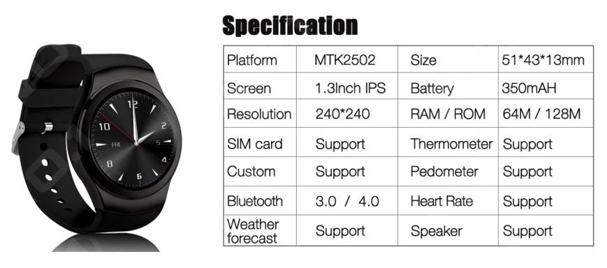 no1 g3 smartwatch