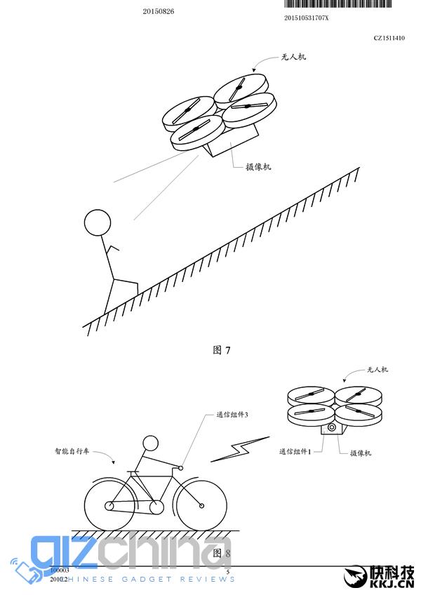 xiaomi drone patent