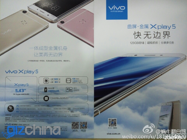 vivo xplay 5 full specs