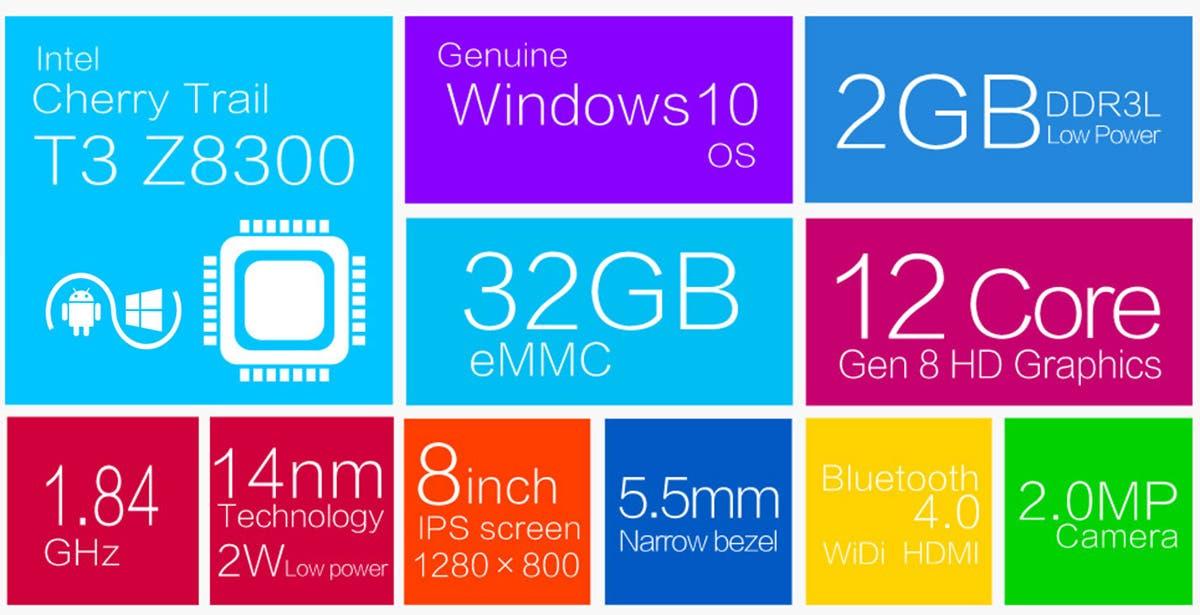 teclast x80 plus windows 10 tablet