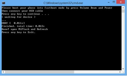 unlock xiaomi mi4s bootloader