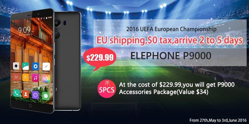 elephone p9000 uefa offer