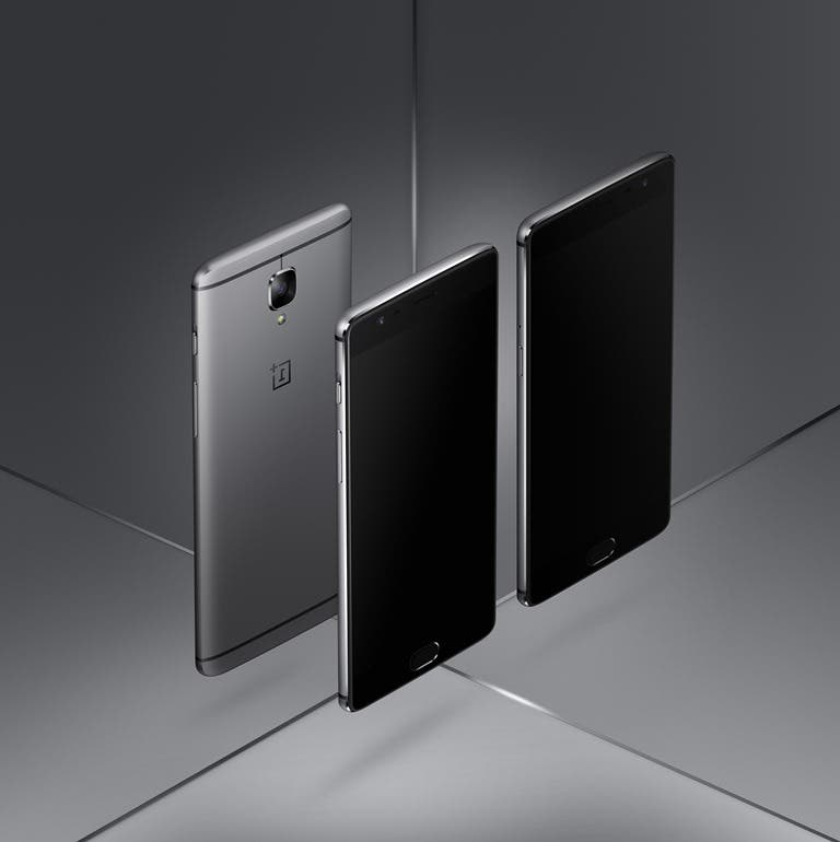 OnePlus 3 FRONT AND BACK IMAGE