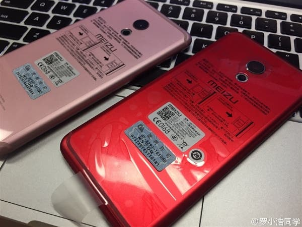 meizu pro 6 pink and red