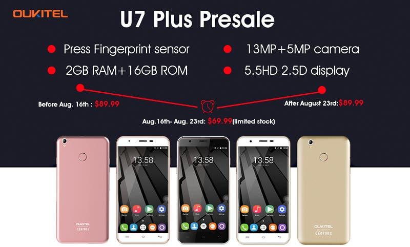 OUKITEL U7 plus Presale