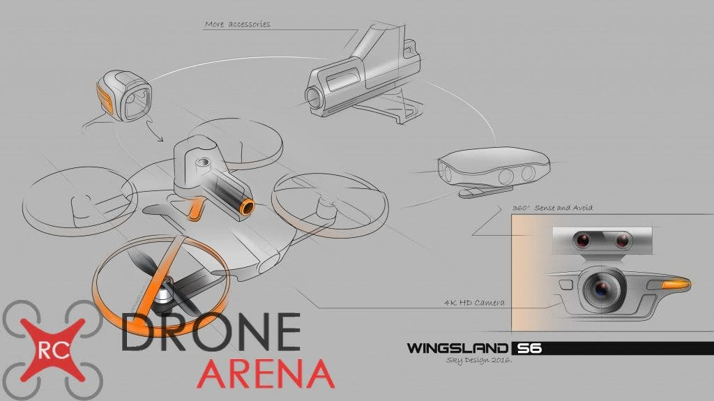 Wingsland S6 RC Drone Arena 2