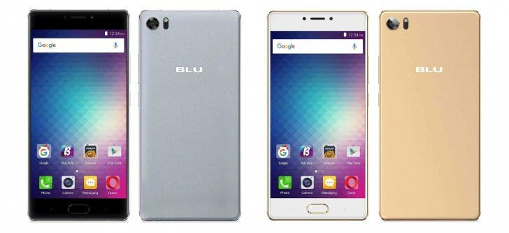 The BLU Pure XR in silver and gold