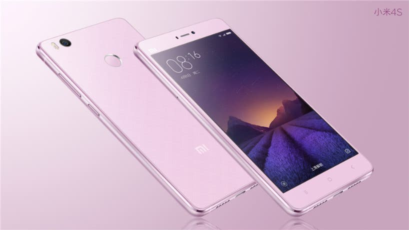 Xiaomi Mi4s in pink
