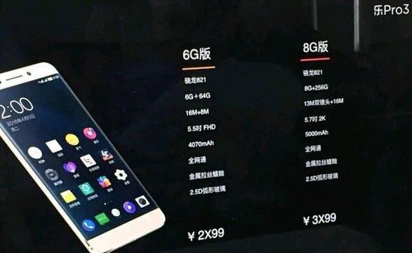 leeco 8GB RAM