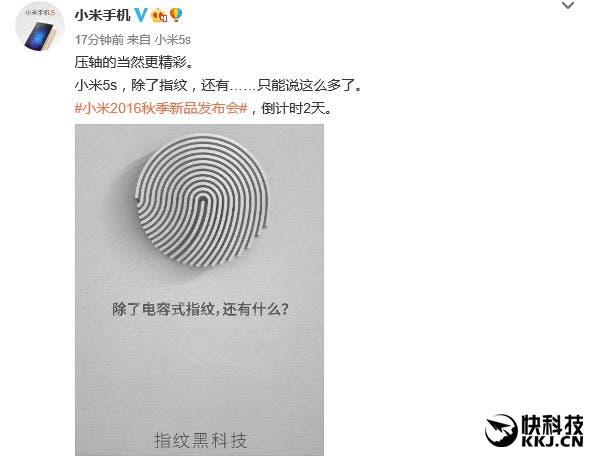Xiaomi Mi 5S Ultrasonic fingerprint sensor