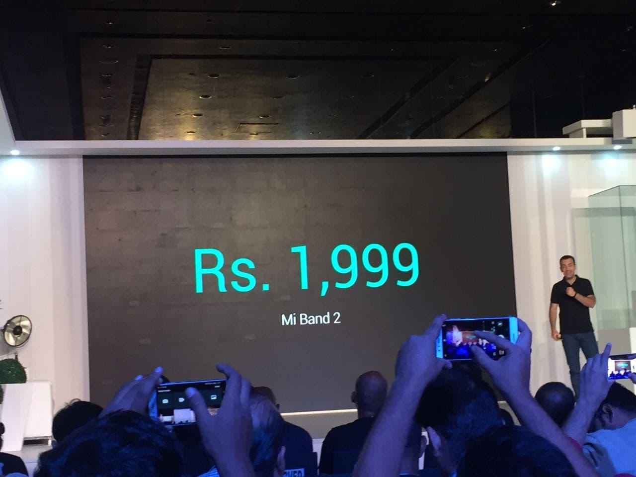 Xiaomi Mi Band 2 Price India