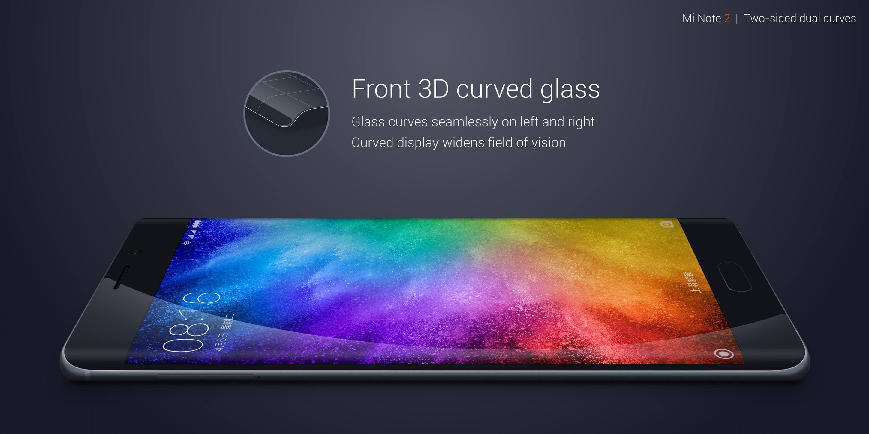 Xiaomi Mi Note 2 specifications: 3D Glass