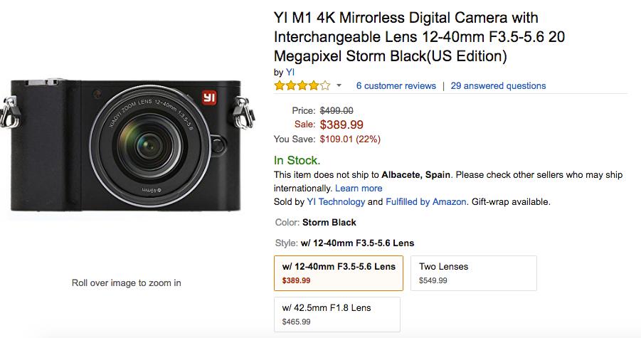 yi m1 camera