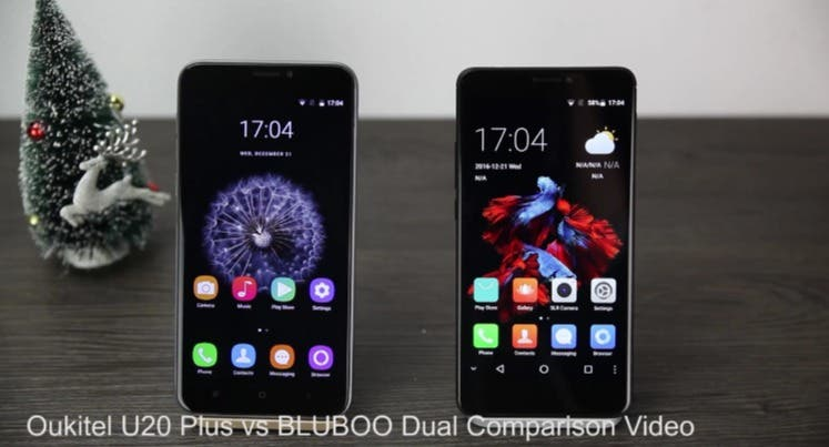 BLUBOO Dual vs Oukitel U20 Plus