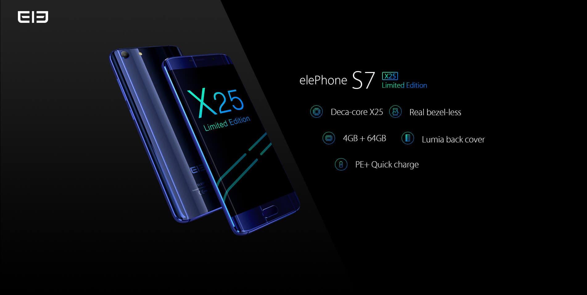 Elephone S7 Treasure Limited helio X25