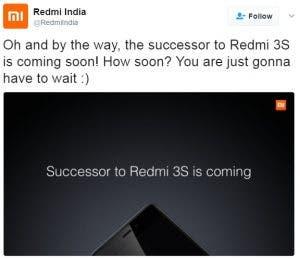 Redmi tweet