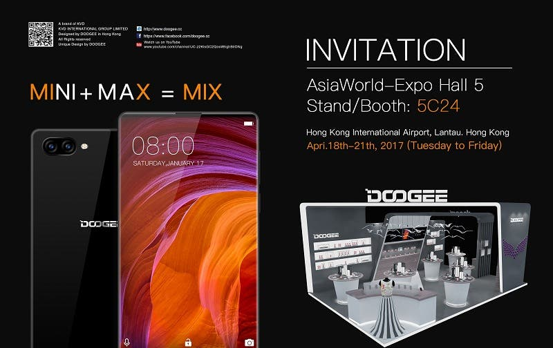 doogee mix dual camera