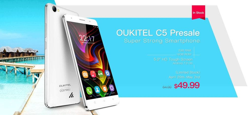 Presales of Oukitel C5 start tomorrow priced at $49.99 ...