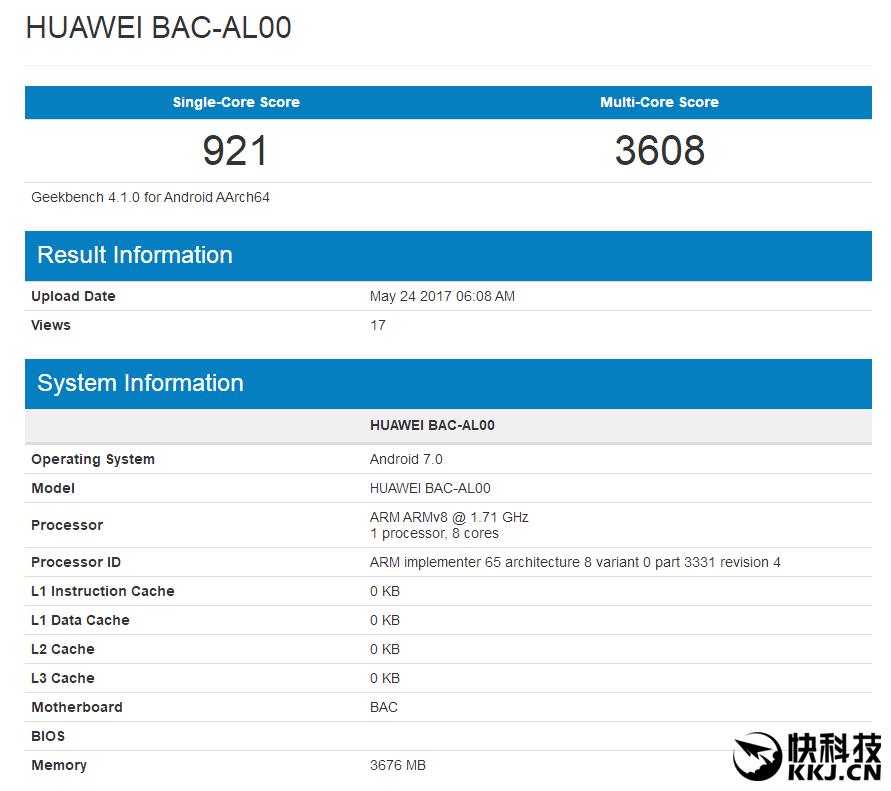 Sforum - Trang thông tin công nghệ mới nhất 841e186e8f244dfd9c56d0c4daffa4c6 Huawei Nova 2 rò rỉ điểm số Geekbench: 4GB RAM, Android 7 và có cả camera kép