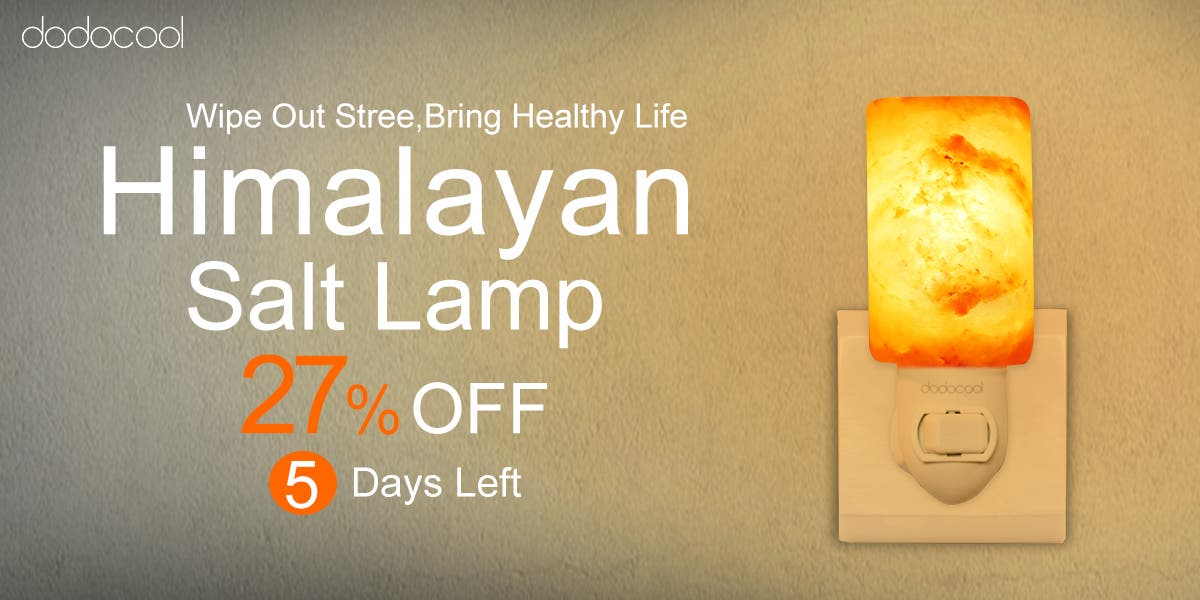 Dodocool Himalayan Salt Lamp 27% Off Coupon and Giveaway - Gizchina.com