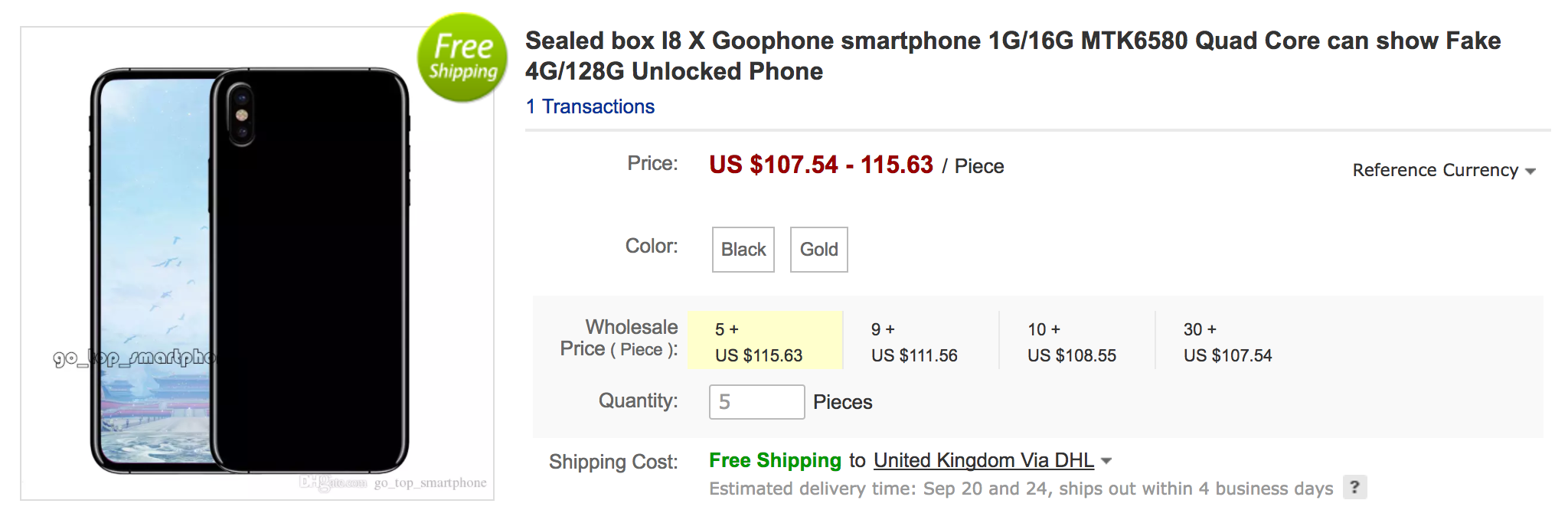 goophone x iphone x clone
