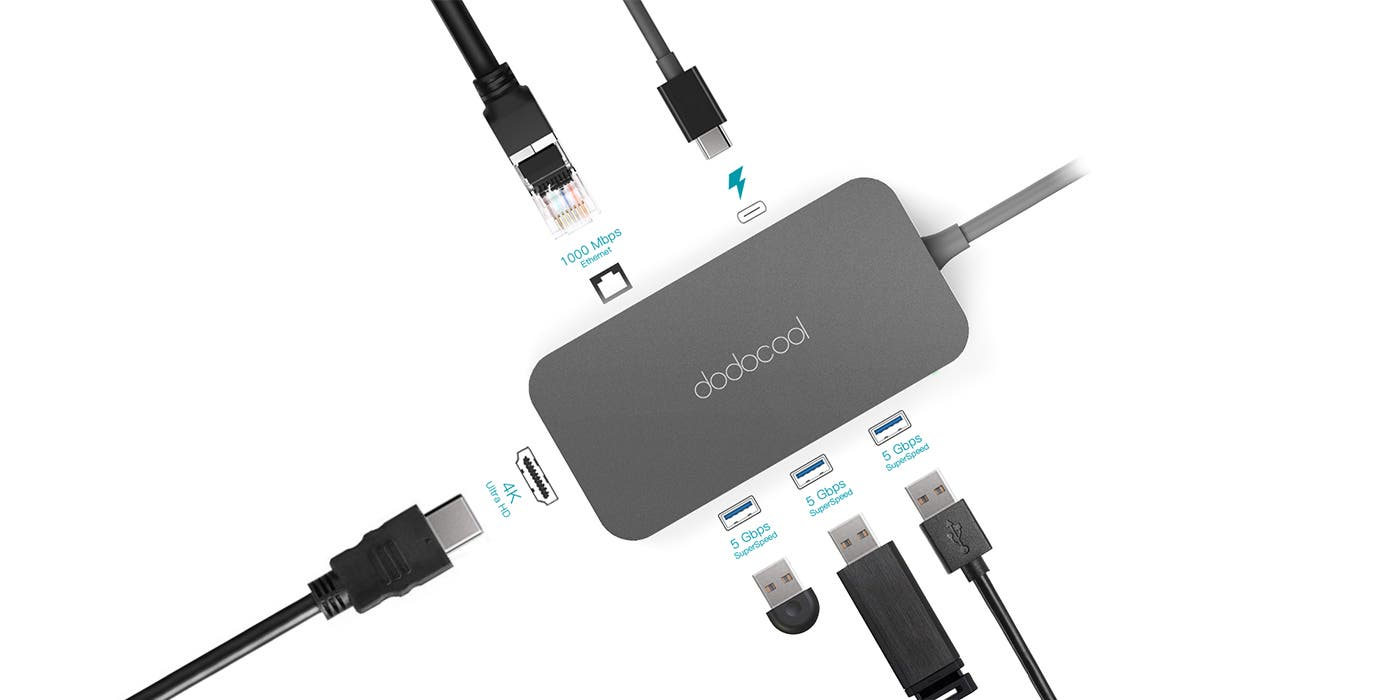 Dodocool DC50 6-in-1 USB Type-C HUB now on Sale