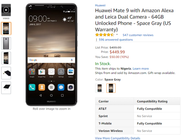 Huawei Mate 9 gets price cut ahead of Mate 10 launch