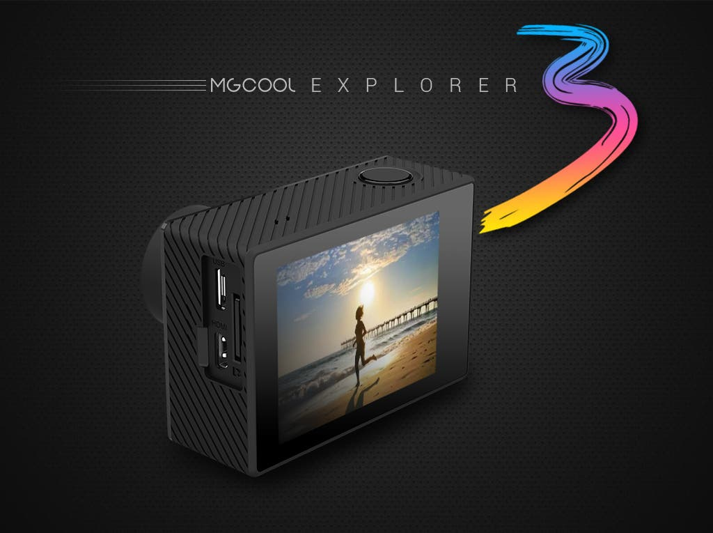 MGCOOL Explorer 3 action camera 4k 30fps
