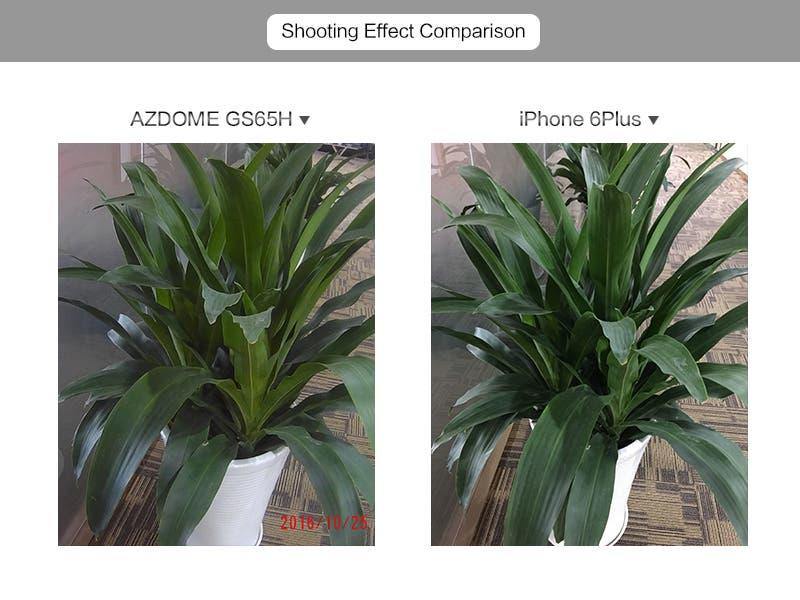 iPhone 6 Plus vs AZDOME GS65H