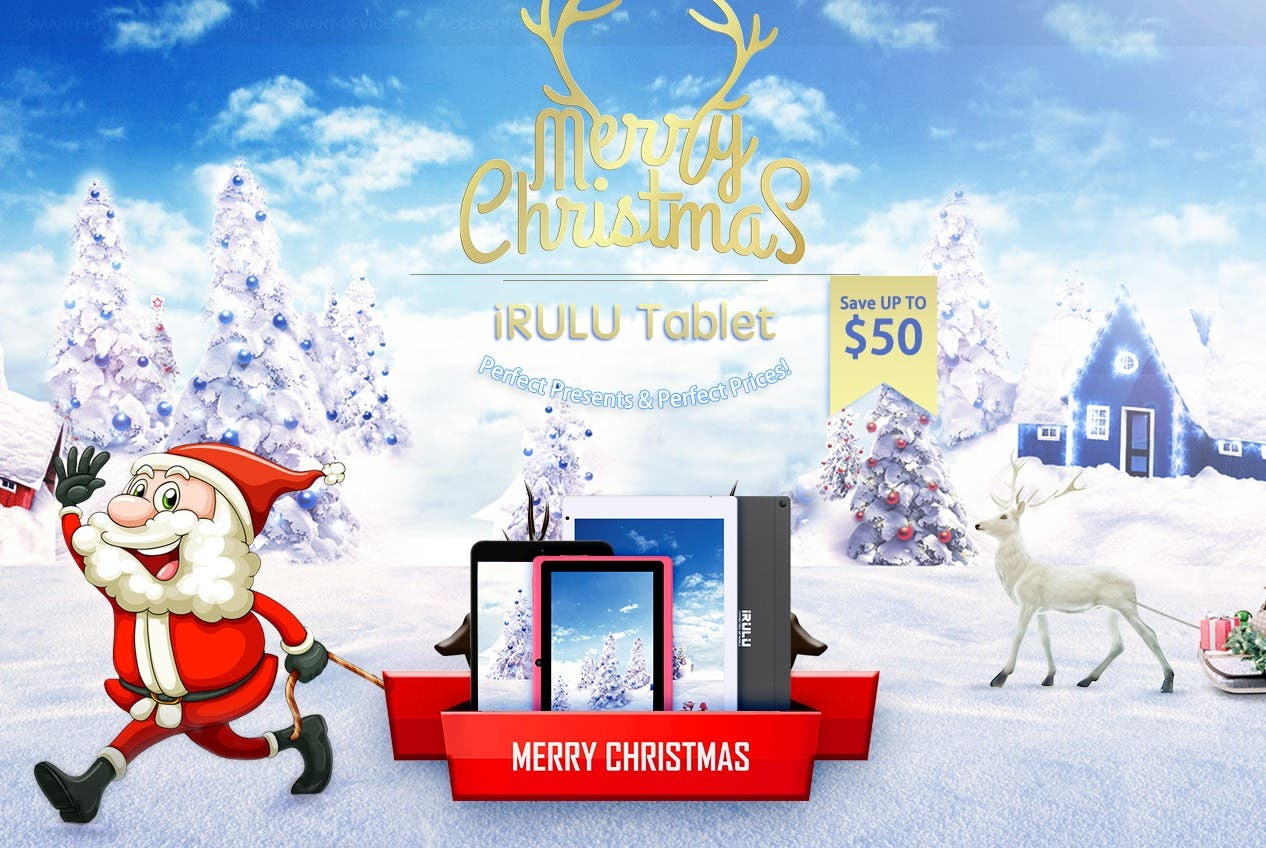 iRULU Christmas Tablet Sale