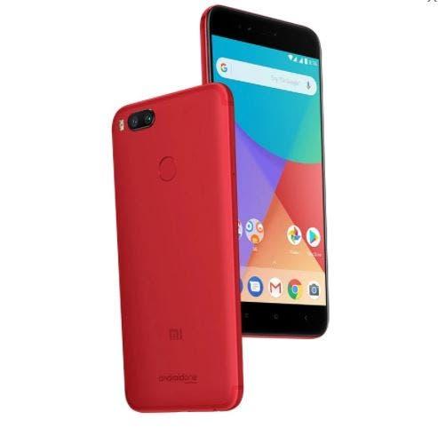 Red colored Xiaomi Mi A1