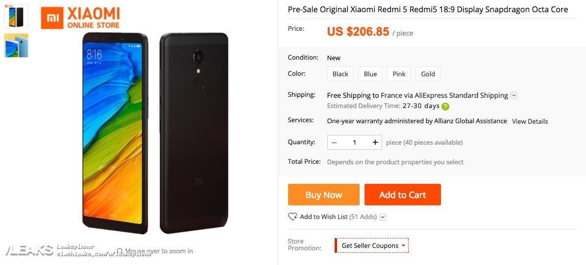 redmi 5 price leak 2