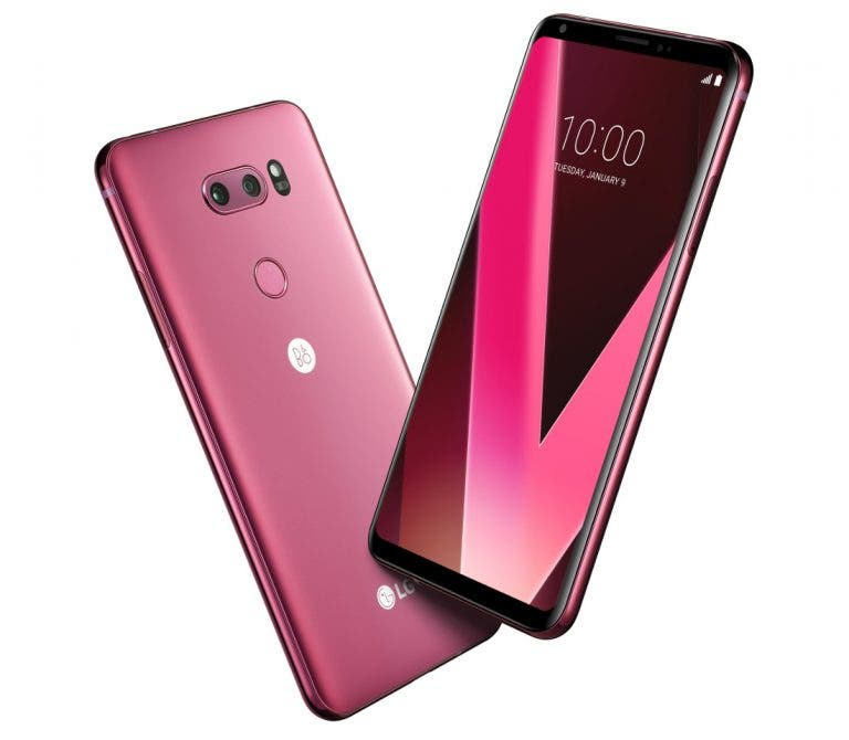 LG V30 Raspberry Rose color variant