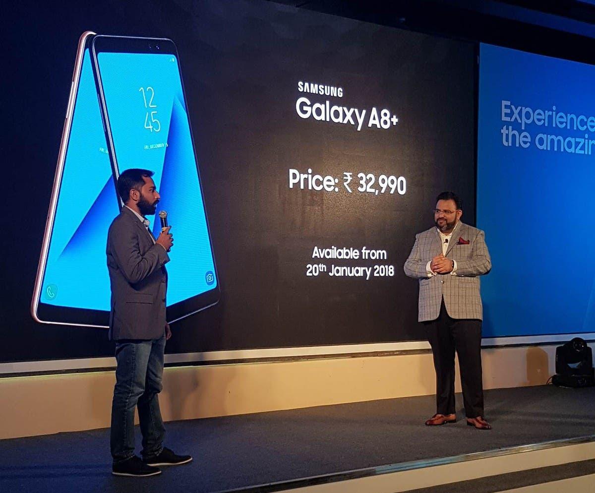 galaxy a8 + (2018) india