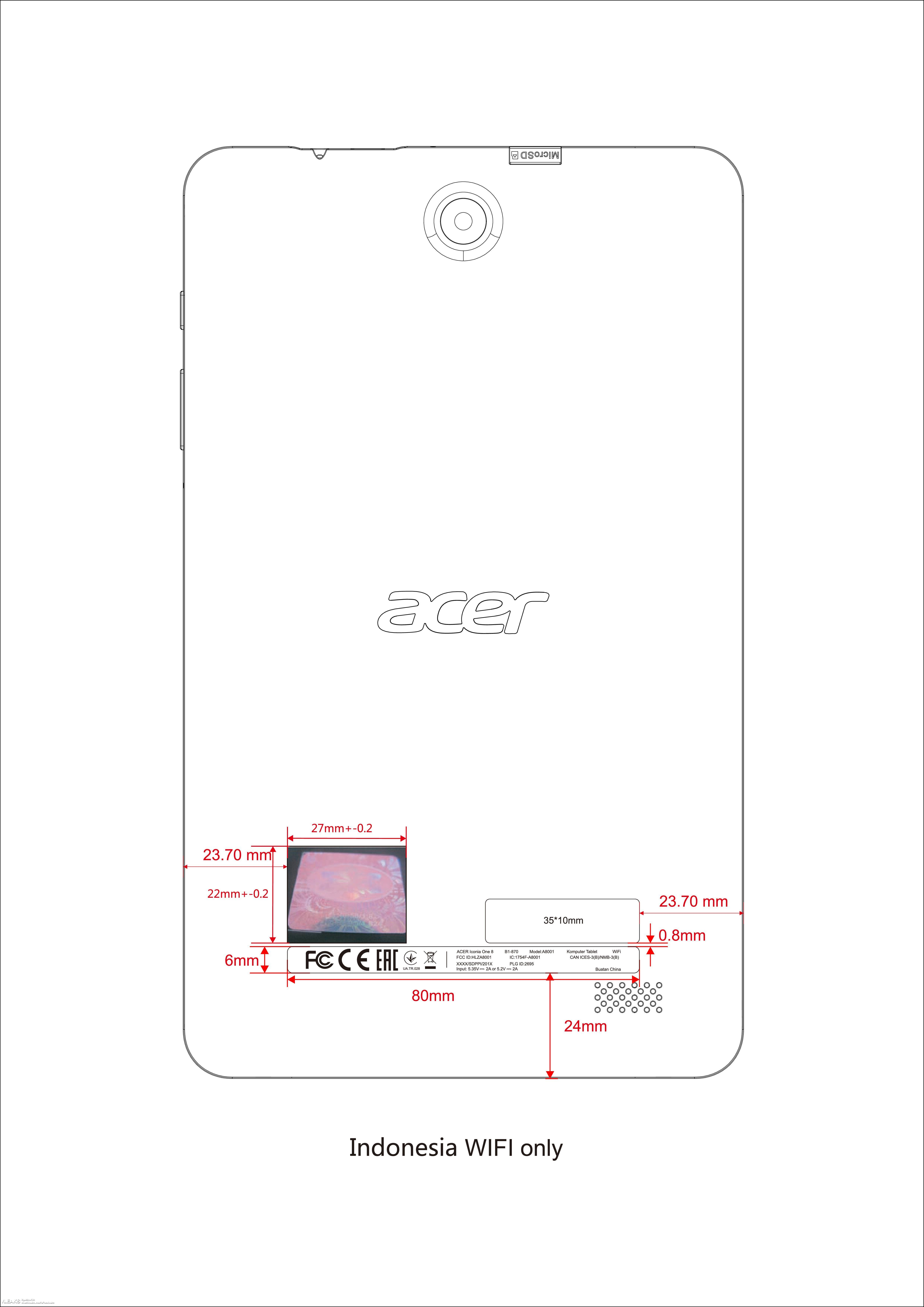 Acer Iconia One 2018