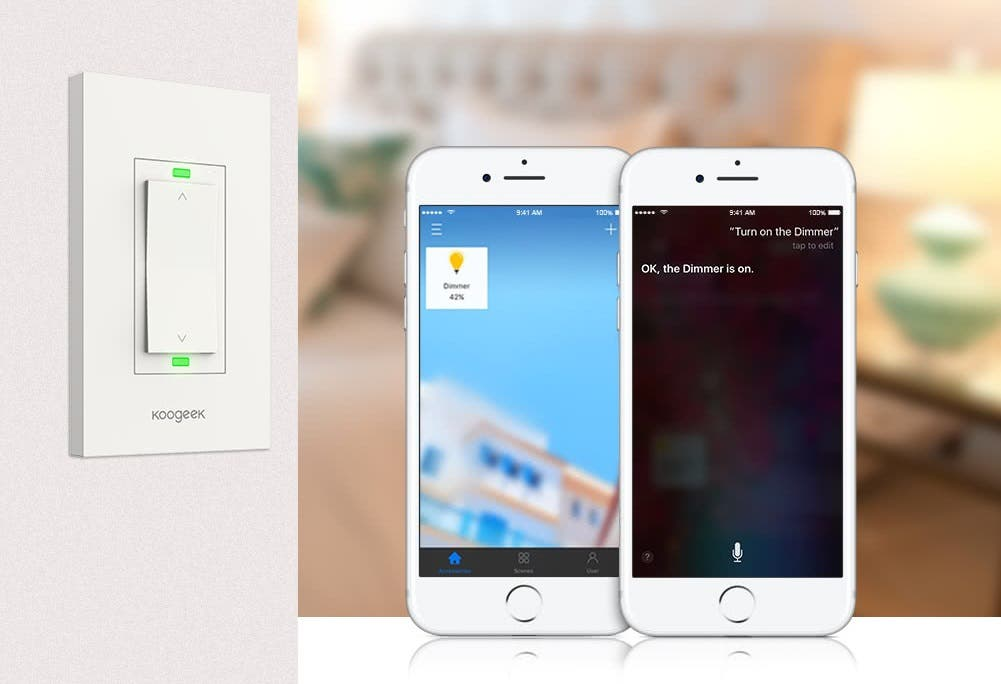 Koogeek KH03 Wi-Fi Enabled Smart Dimmer with Apple HomeKit Support