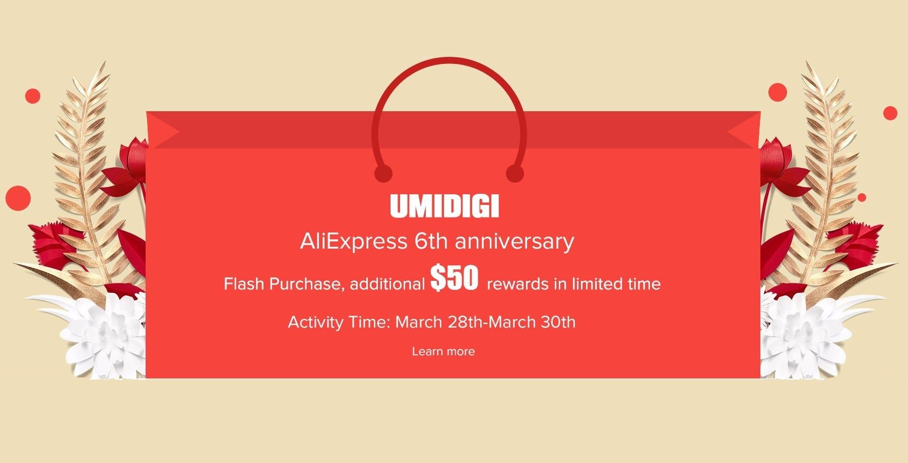 UMIDIGI's AliExpress Anniversary