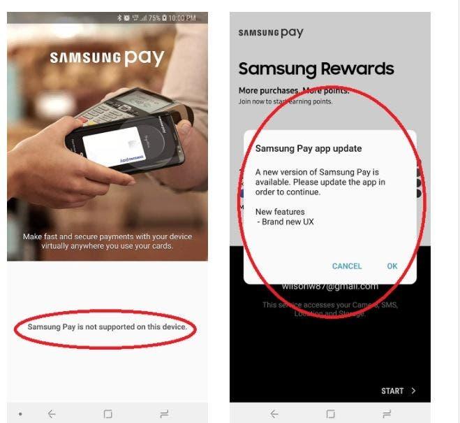 Galaxy s9, samsung pay