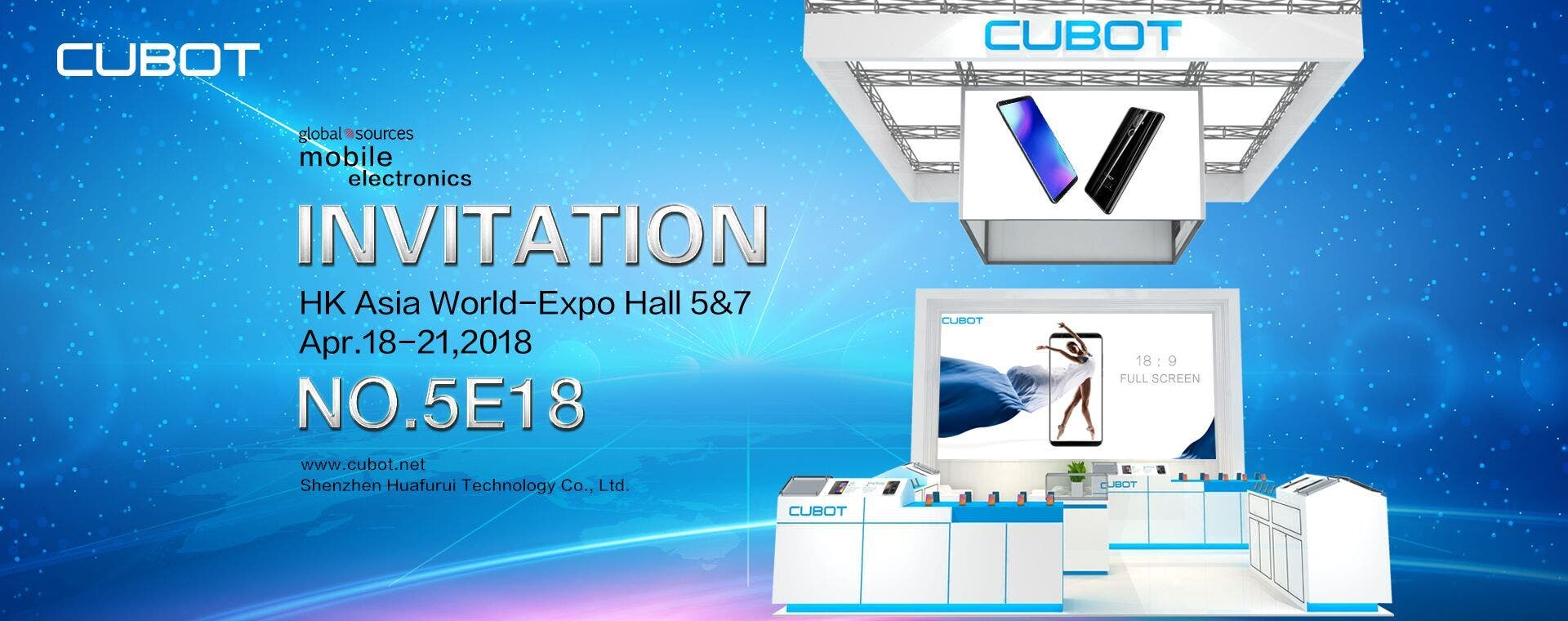 Cubot to Attend Global Sources Electronics Show