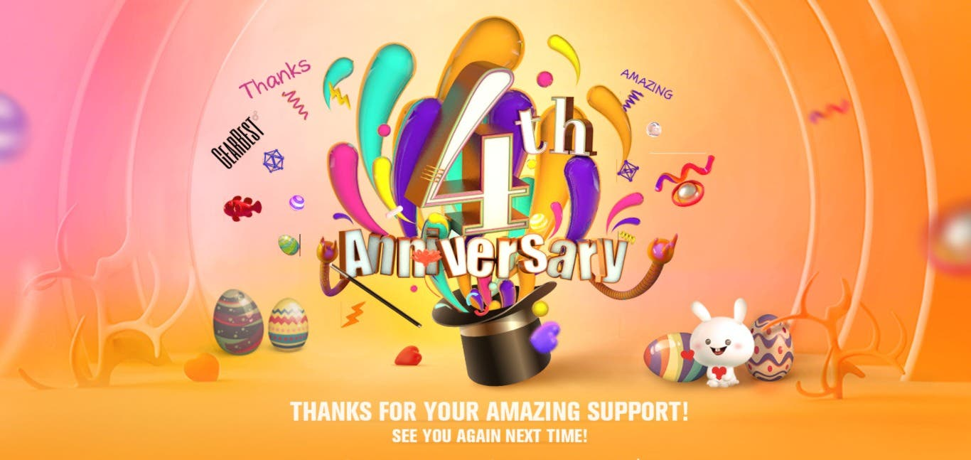 Gearbest's 4th Anniversary Promo