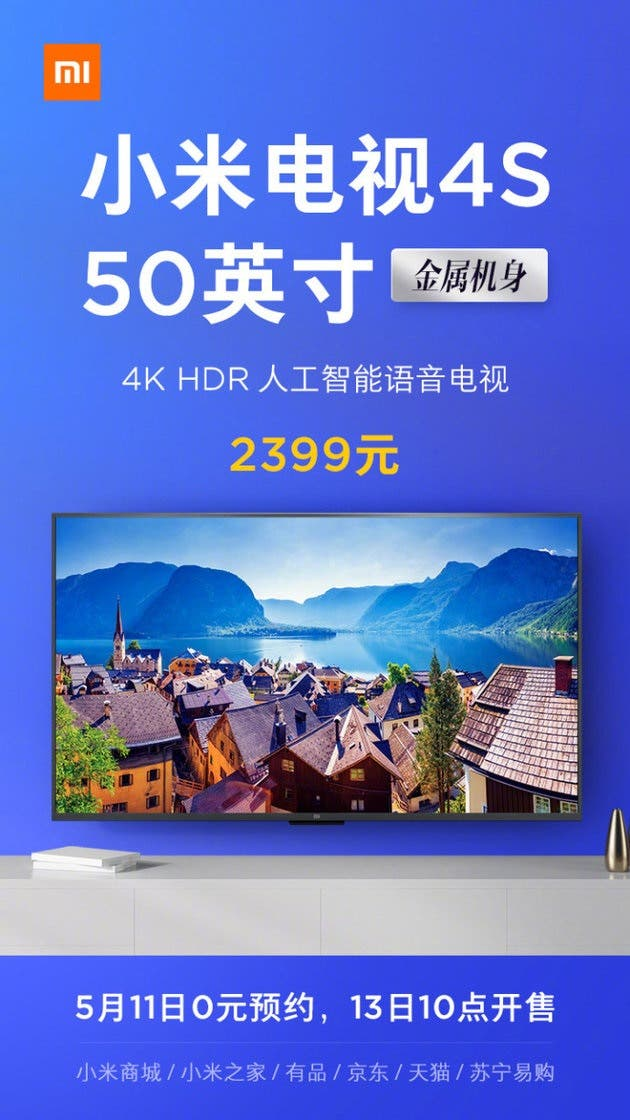 Xiaomi Mi TV 4S 50-inch