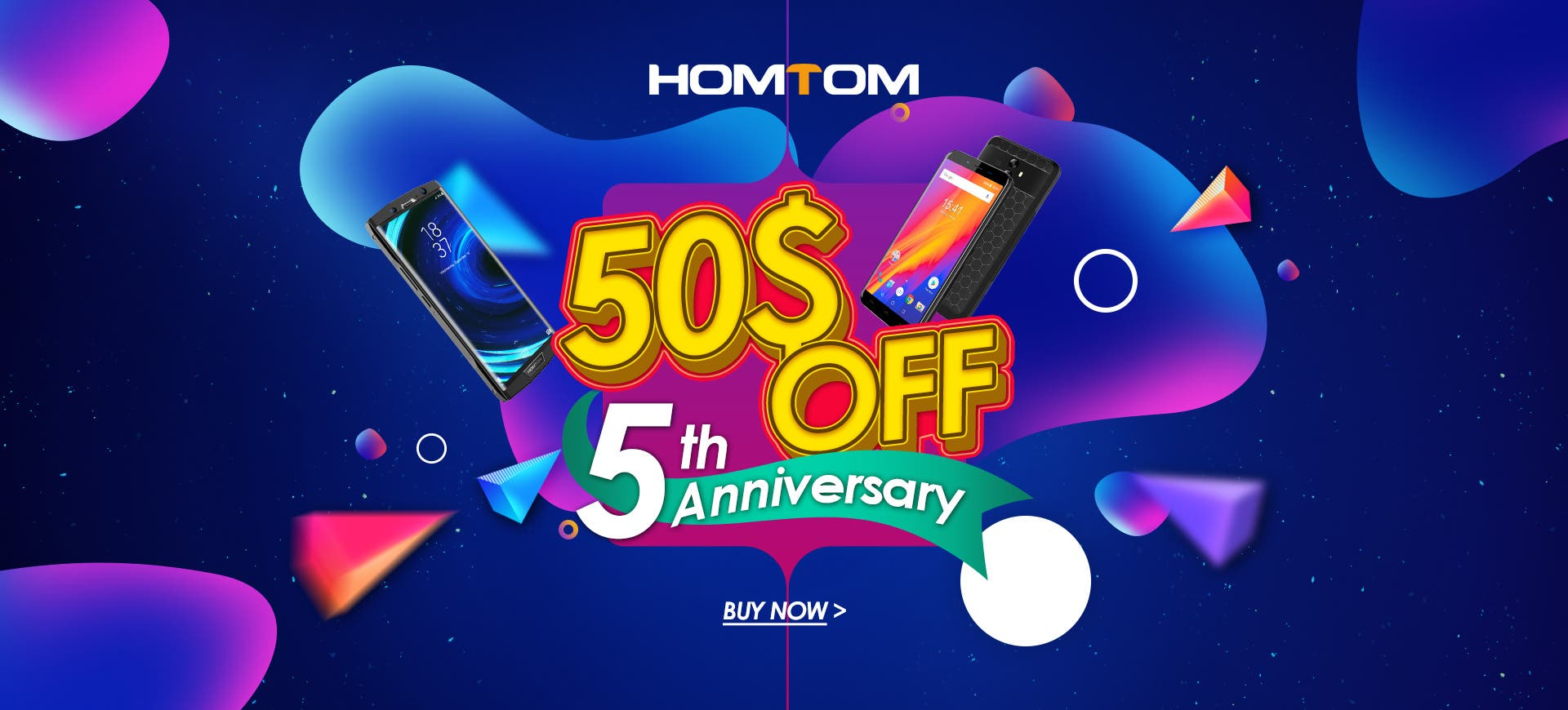 HOMTOM Celebrates Its 5th Year Anniversary
