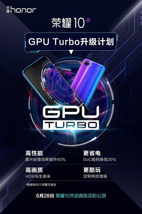 Honor 10 To Start GPU Turbo Beta Testing On June 28