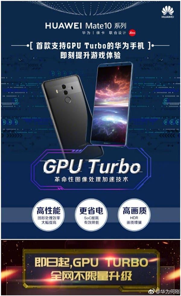 Huawei Mate 10 GPU Turbo
