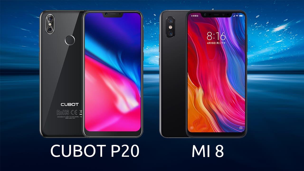 CUBOT P20 vs Xiaomi Mi 8